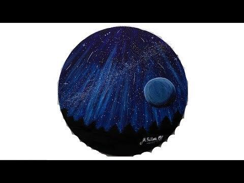 Рисунок красками - Звездное небо (starry sky )
