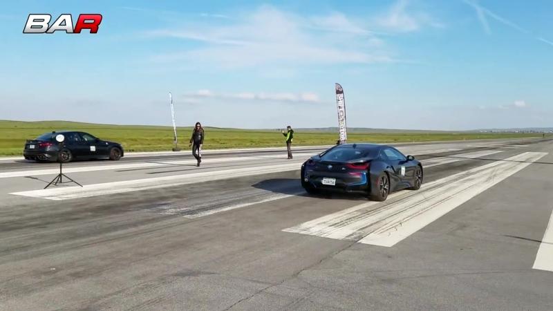 Giulia Quadrifoglio vs. BMW i8 | «BMW | BOOMER | БМВ» vk.com/boomerm