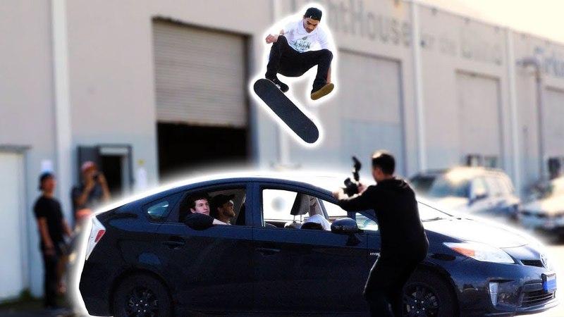 360 ФЛИП ЧЕРЕЗ МАШИНУ ААРОНА КАЙРО!? (360 FLIP OVER AARON KYRO'S CAR!؟)