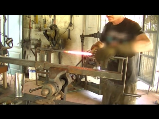 Damascus steel  Making a special twisted multibar blade