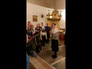 Колядки после ночной литургии на Рождество Христово 2018