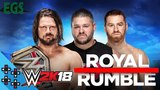 WWE ROYAL RUMBLE 2018 WWE CHAMPIONSHIP HANDICAP MATCH AJ STYLES VS KEVIN OWENS &amp SAMI ZAYN