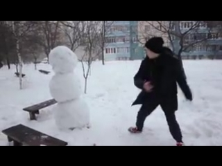 Прикол_Как отпиздить снеговика_2015_Юмор_Мдк-#Приколы #Молодежка #Форсаж