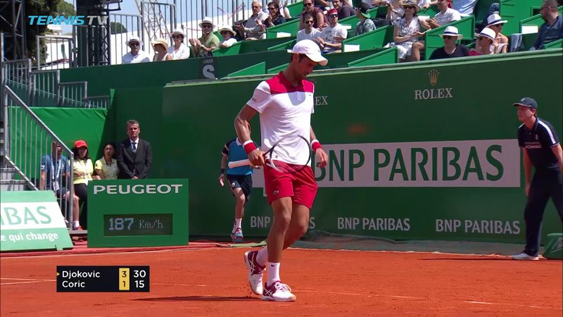 Hot Shot: Djokovic Unleashes Pinpoint Forehand Monte-Carlo 2018