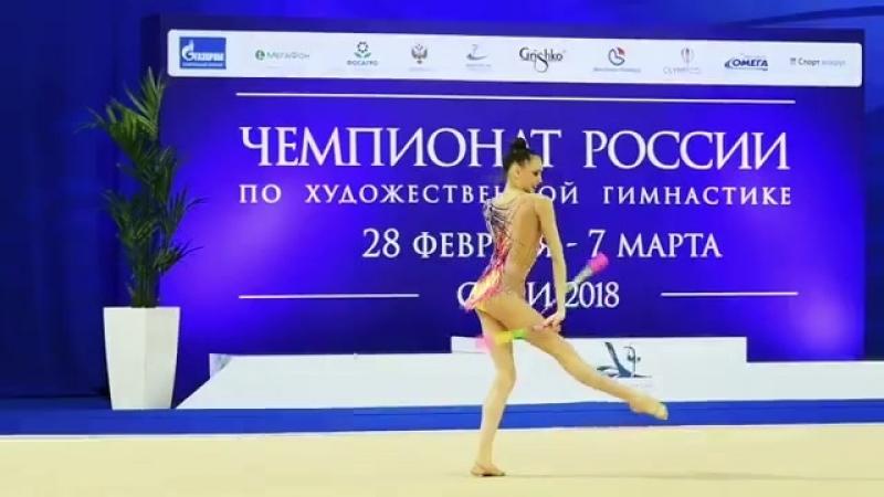 Дарья Трубникова булавы (вне конкурса) Чемпионат России 2018