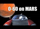 How Fast Could A Tesla Roadster Hit 60 MPH On Mars