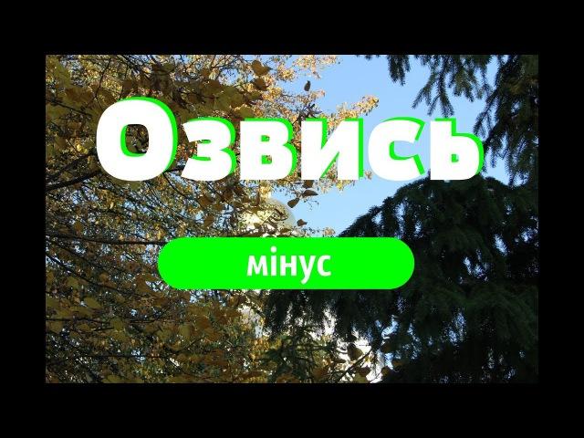 Озвись - мінус