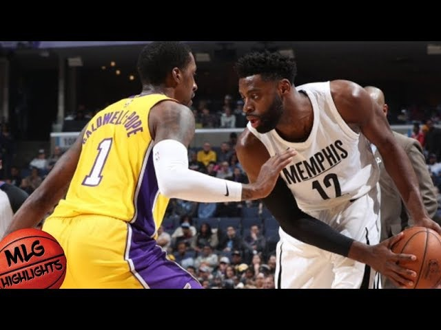 Los Angeles Lakers vs Memphis Grizzlies Full Game Highlights / Jan 15 / 2017-18 NBA Season