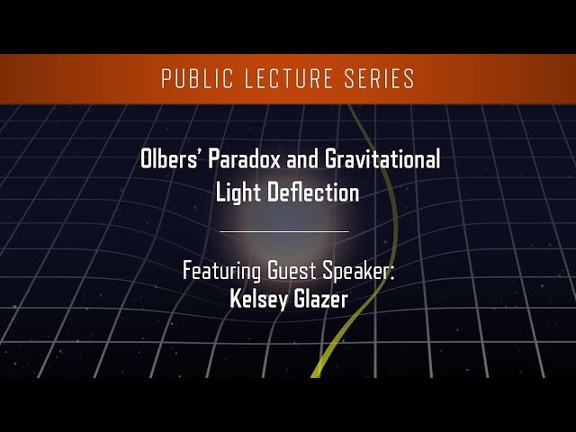 Olbers' Paradox and Gravitational Light Deflection
