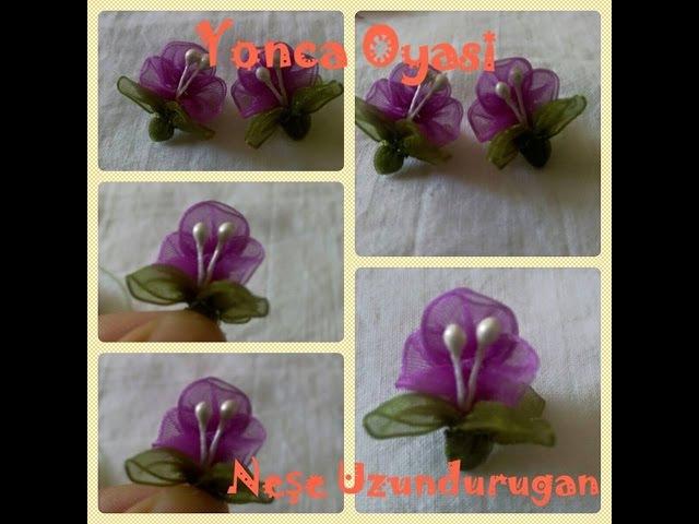 Organze Kurdele oyalarıYONCA ÇİÇEĞİ Forex flower,health flower,holiday flower, , summer flower