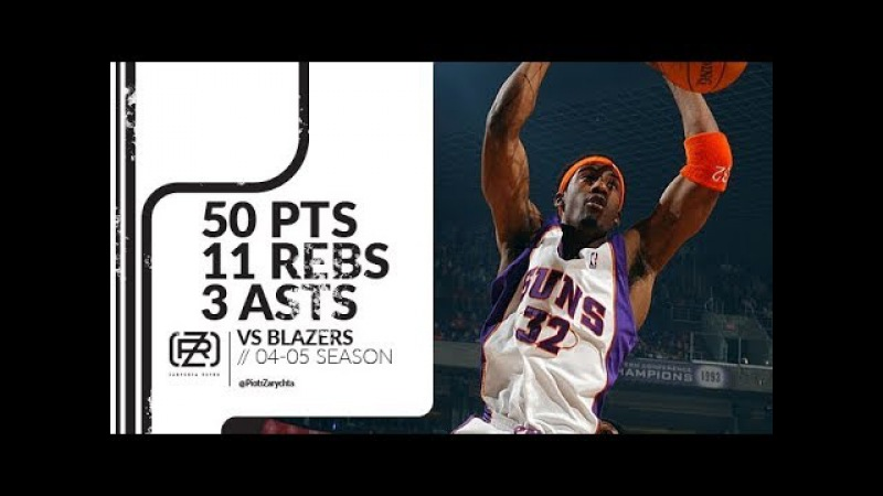 Amare Stoudemire 50 pts 11 rebs 3 asts vs Blazers 04/05 season
