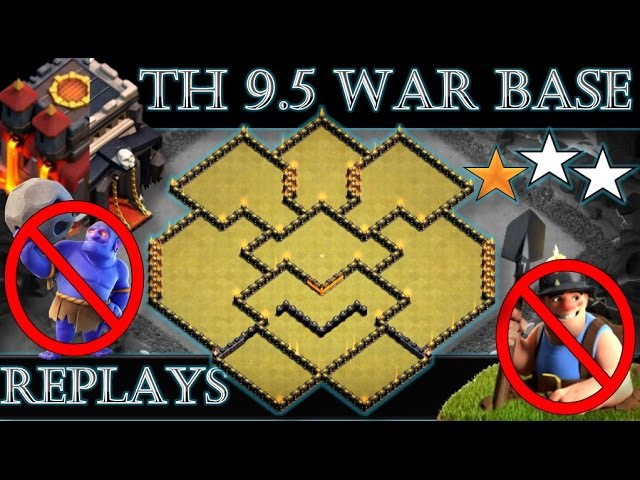 TH 9.5 (TOWN HALL 10 WITHOUT INFERNOS) ANTI 2 STARS WAR BASE | REPLAY PROOF | CLASH OF CLANS