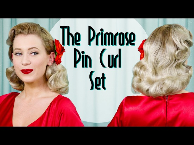 The Primrose Pin Curl Set Vintage Hairstyle