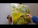 Landscape oil knife painting, paysage huile au couteau par Nathalie JAGUIN