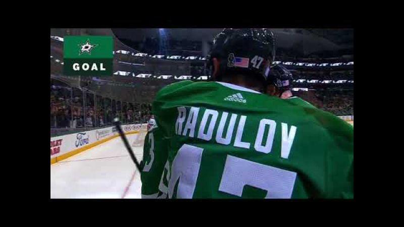 Alex Radulov perfest pass to Smith vs Islanders 2017