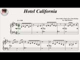 Hotel California - The Eagles, Piano