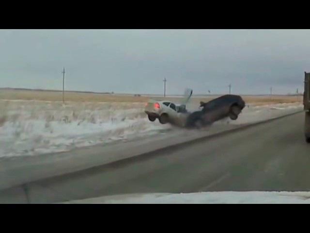Авария ДТП лобовое столкновение Приора Ваз 2114