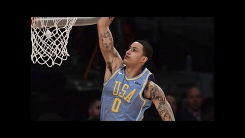 Kyle Kuzma (20 pts, 7 reb, 2 ast) Highlights vs Team World / Feb 16 / 2018 NBA Rising Stars Game