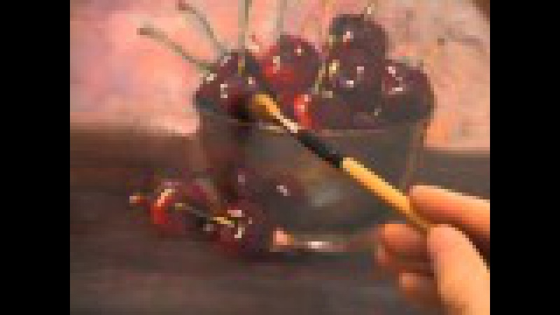 How to Paint Oil Paintings DVD - Techniques for Cherries in Bowl