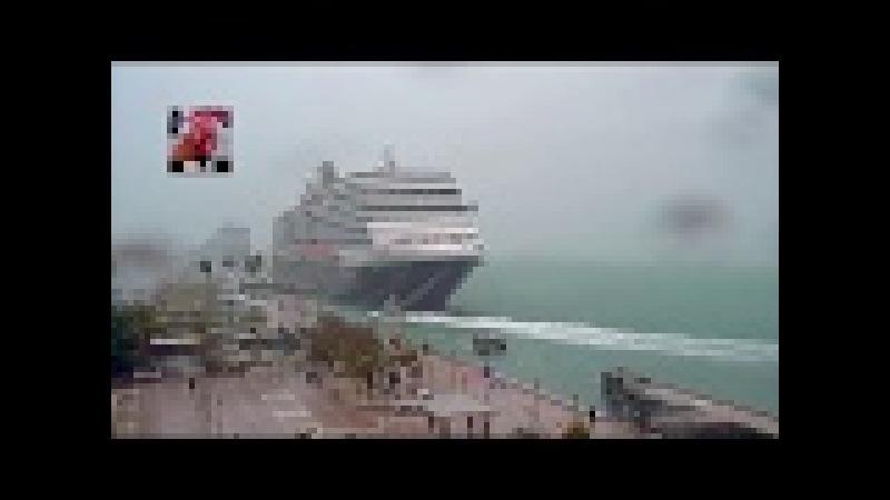 Eurodam and Capt Blinky battle storm at Key West FL Dec 9 2017