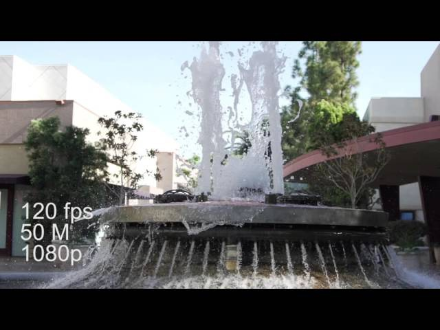Fps - 24, 30, 60, vs 120p - Sony a7sii - 4K - Water Fountain - Cerritos Town Center