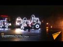 Шоу огнедышащих тракторов устроил МТЗ на площадке перед заводом