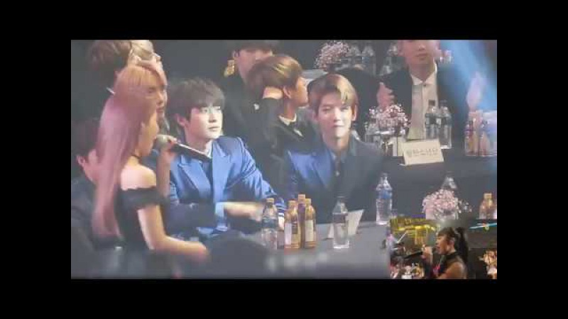 170119 EXO reaction to MAMAMOO - You're the Best - Decalcomanie in SMA 2017