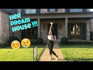 SURPRISING MY GIRLFRIEND WITH HER DREAM HOUSE PRANK!!! **VERY EMOTIONAL**