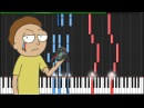 Evil Morty Theme Rick and Morty Piano Tutorial Synthesia Knight Pianist ChacelX