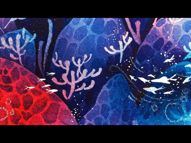 Painting with Only Two Colors! ツ ( Underwater Scene Speedpaint)