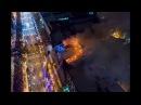 Пожар возле Крещатика появилось видео с высоты
