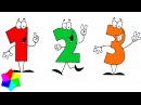 🙂Учим Цифры и Учимся Считать от 1 до 10.👍 Развивающее видео для детей по методик ...