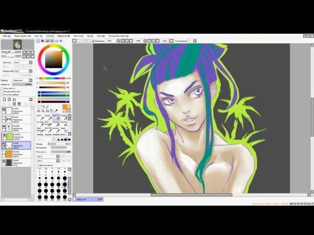 • Girl sketch digital drawing •