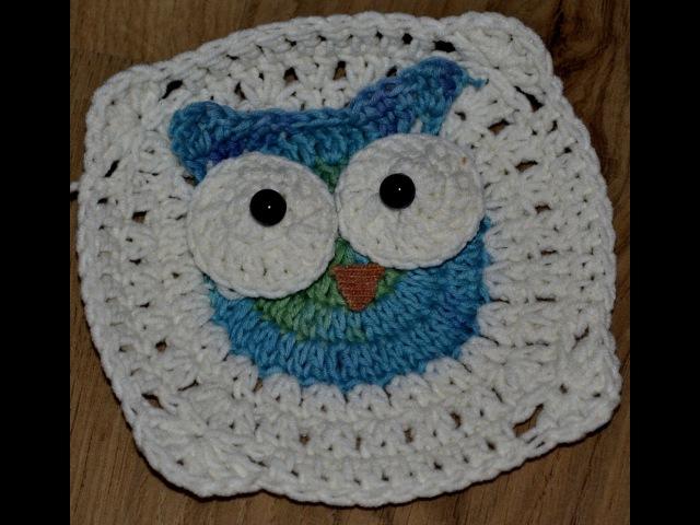 Kwadrat 1 i 2- kocyk w sowy/ Tutorial blanket owl