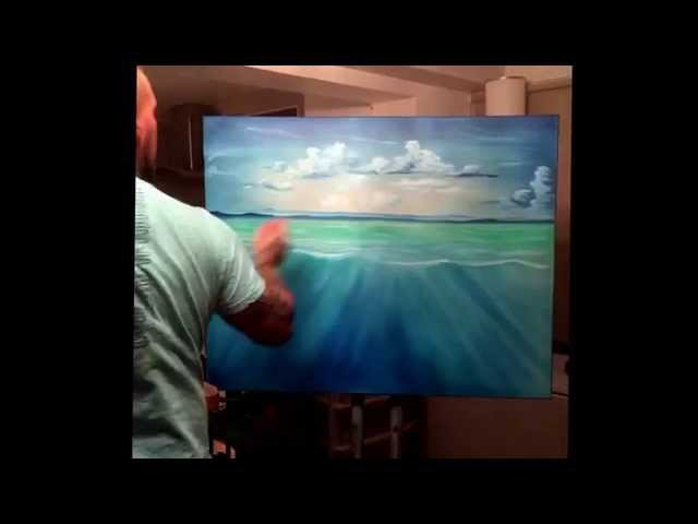 Under water scene oil painting commission