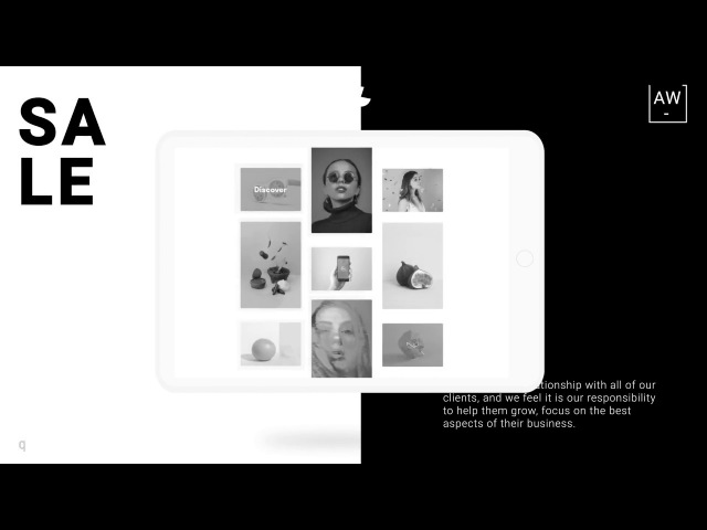 BlackWhite Tablet Web Presentation