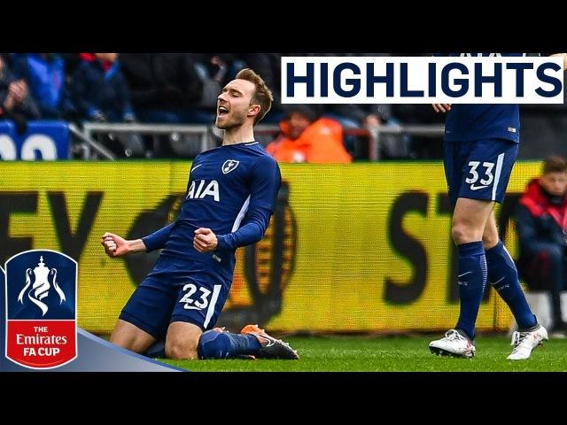 Eriksen Brace puts Spurs in the Semi   Swansea 0-3 Tottenham   Emirates FA Cup 2017/18
