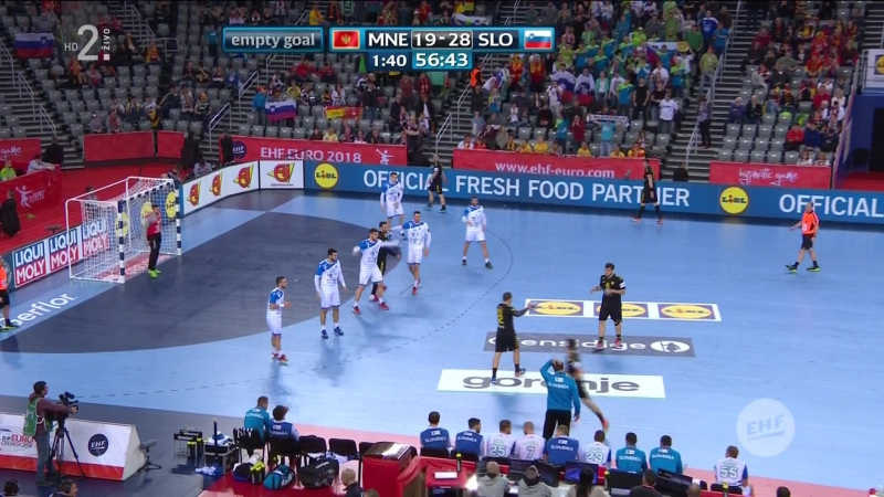 Crna Gora - Slovenija 19-28, posljednjih 5 minuta (EURO CROATIA 2018), 17.01.2018. Full HD