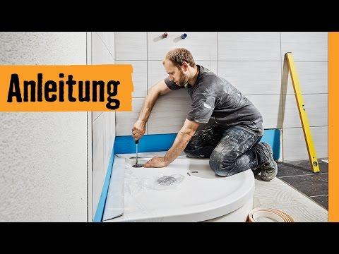 Dusche einbauen mit Wannenträger | HORNBACH Meisterschmiede