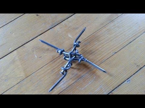 Крест из двойных выгнутых узлов 200.6 и скрепил 120.3 гвозди