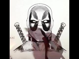 Рисунок Дэдпула