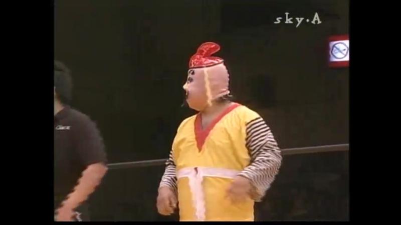 Densen Man, Ebessan, Momoe Nakanishi vs. Kuishinbo Kamen, Super Delfin, Tama Fuka (Osaka Pro - Tokyo Holiday Paradise 2004)