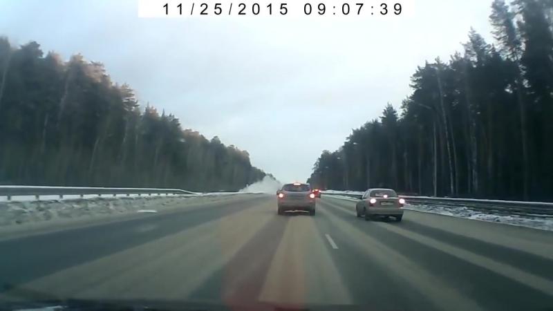 Авария на дублере Сибирского тракта в Екатеринбурге