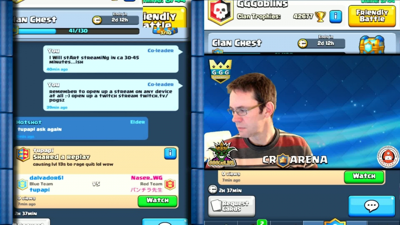 Friday Clash Royale chill stream. Just having fun with my clan mates and friends.