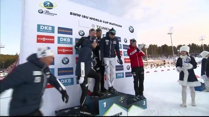 Вручение сборной Норвегии МХГ по программе эстафет (Тюмень 2018)