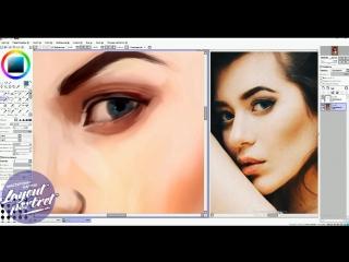 "Процесс рисования ""digital art"" портрета - мастерская картин layout"