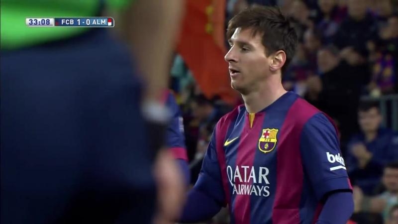 Golazo de Messi (1-0) en el FC Barcelona - UD Almería