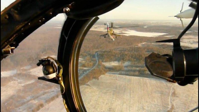 Беркуты Полет парой Ми 24 на воздушный бой