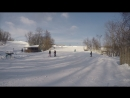 Моё первое катание на сноуборде )