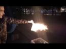 Ритуальное сожжение стикеров НЕСНА